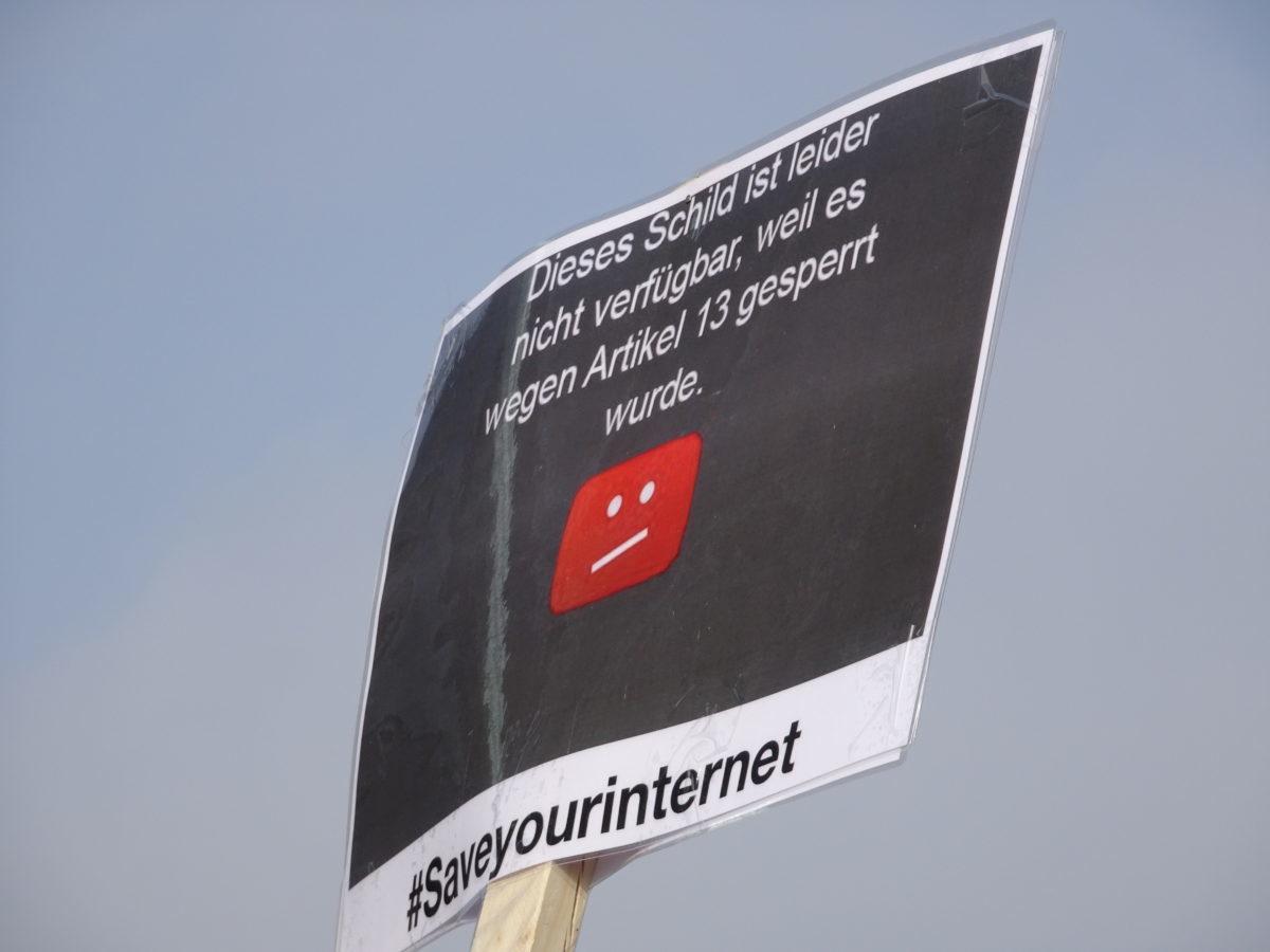 Demonstration Artikel 13 #saveyourinternet